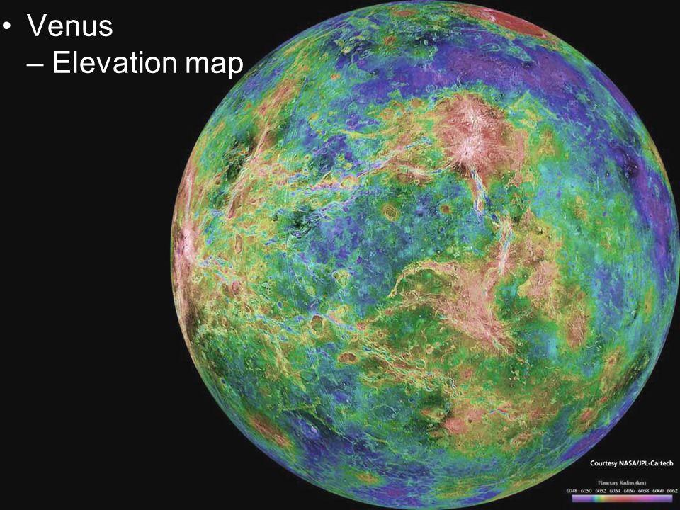 Venus – Elevation map