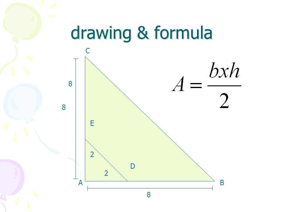 drawing & formula D 8 8 AB C D E 2 2 8