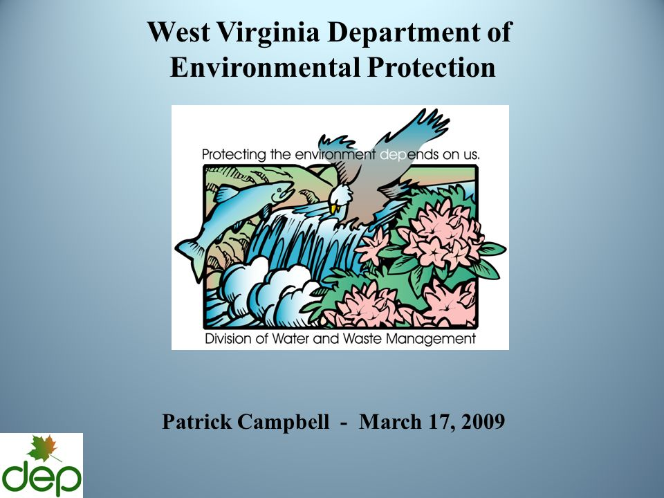 West Virginia Department of Environmental Protection Patrick Campbell - March 17, 2009