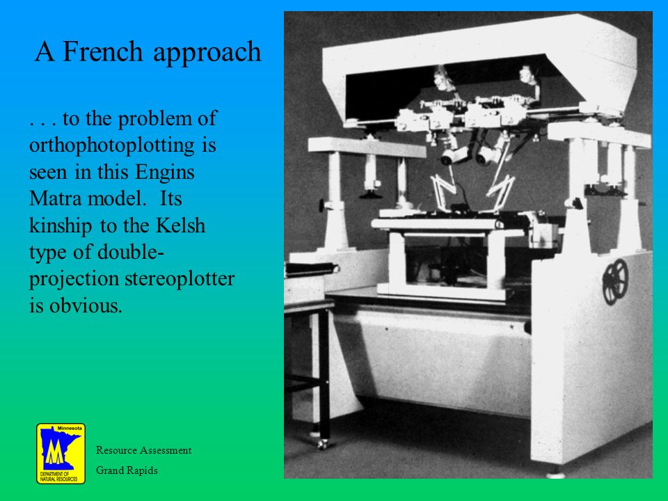 Resource Assessment Grand Rapids 22 A French approach...