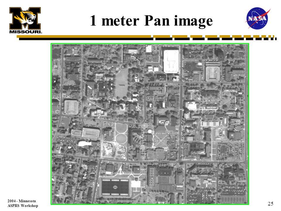 2004 - Minnesota ASPRS Workshop 24 IKONOS 1M Pan vs DOQQ 1M Radiometric Resolution Comparison IKONOS DOQQ