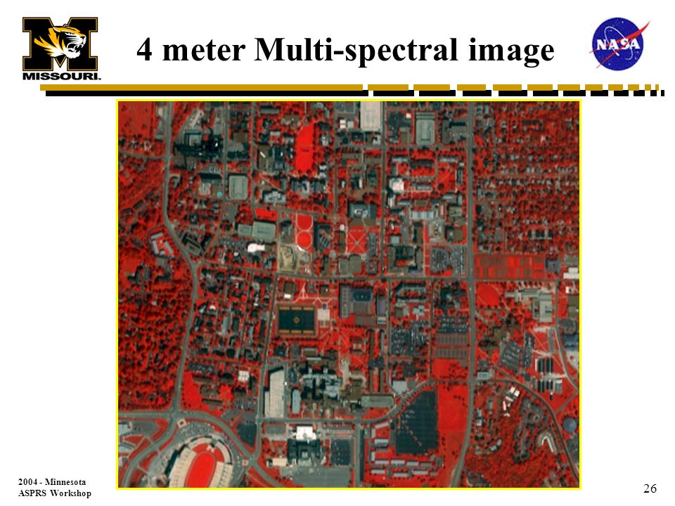 2004 - Minnesota ASPRS Workshop 25 1 meter Pan image
