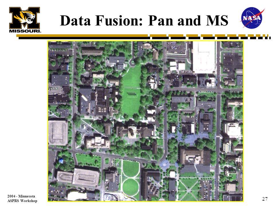 2004 - Minnesota ASPRS Workshop 26 4 meter Multi-spectral image