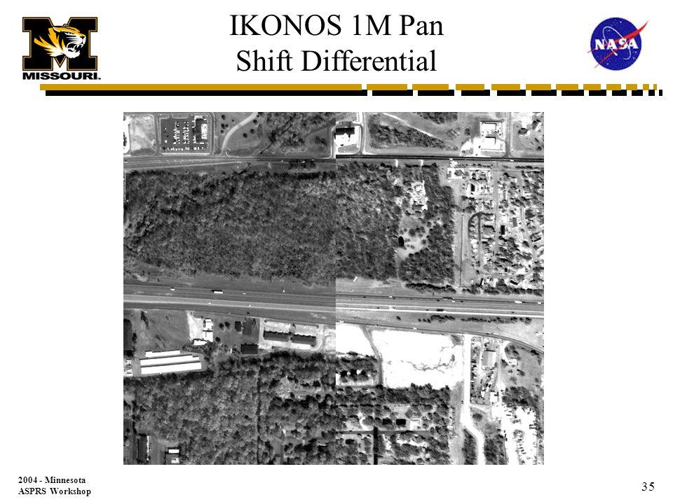 2004 - Minnesota ASPRS Workshop 34 DOQQ 1M Shift Differential