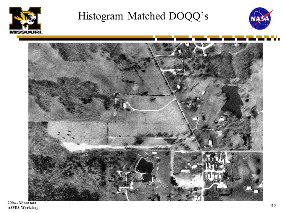2004 - Minnesota ASPRS Workshop 37 DOQQ Match