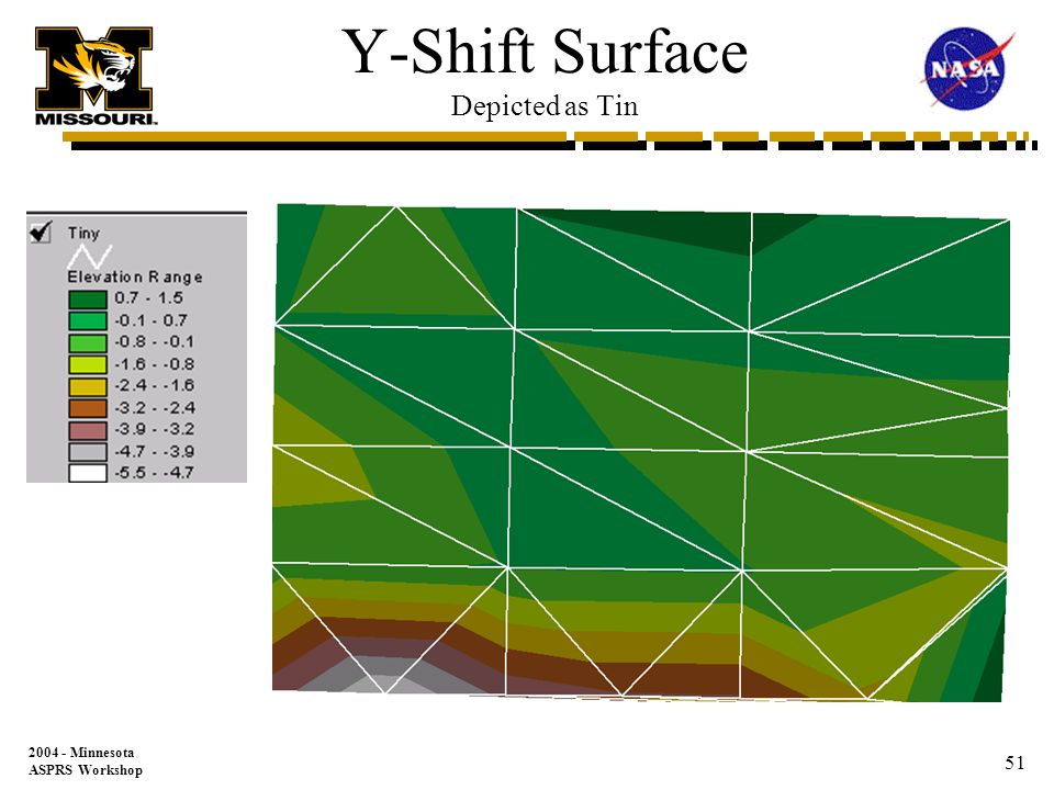 Minnesota ASPRS Workshop 50 X-Shift Surface Depicted as Tin