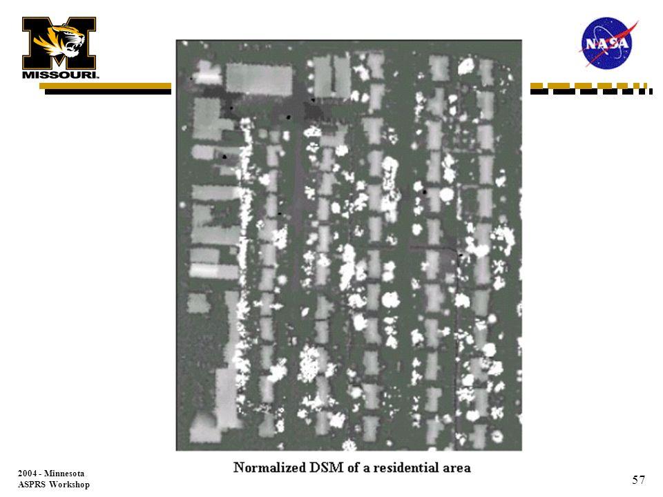 2004 - Minnesota ASPRS Workshop 56 1 m Laser DEM Springfield, MO Elevation (m) 360.0 670.0