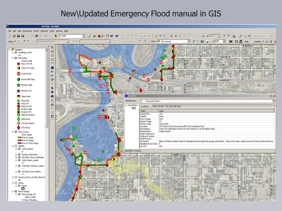 New\Updated Emergency Flood manual in GIS