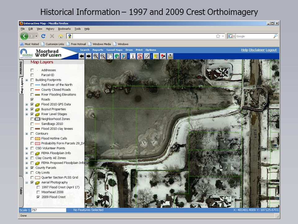 Historical Information – 1997 and 2009 Crest Orthoimagery