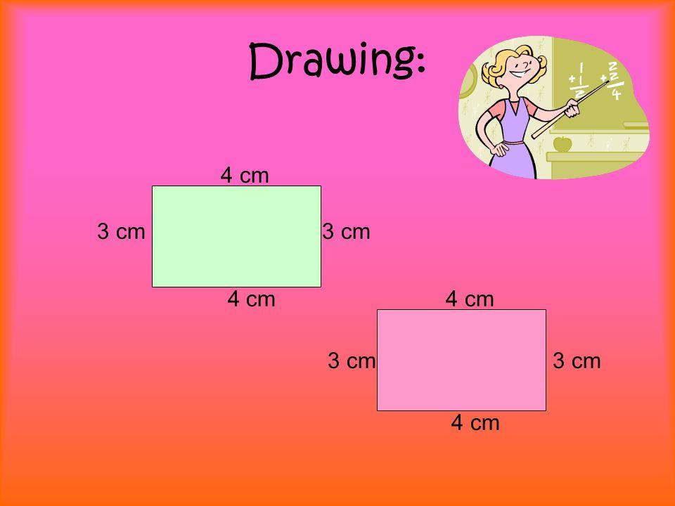 Drawing: 4 cm 3 cm 4 cm 3 cm 4 cm