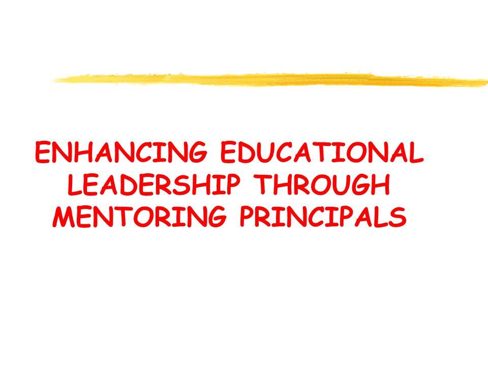 ENHANCING EDUCATIONAL LEADERSHIP THROUGH MENTORING PRINCIPALS