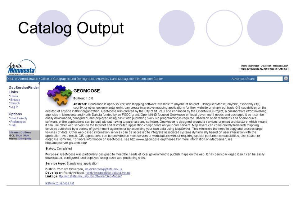 Catalog Output