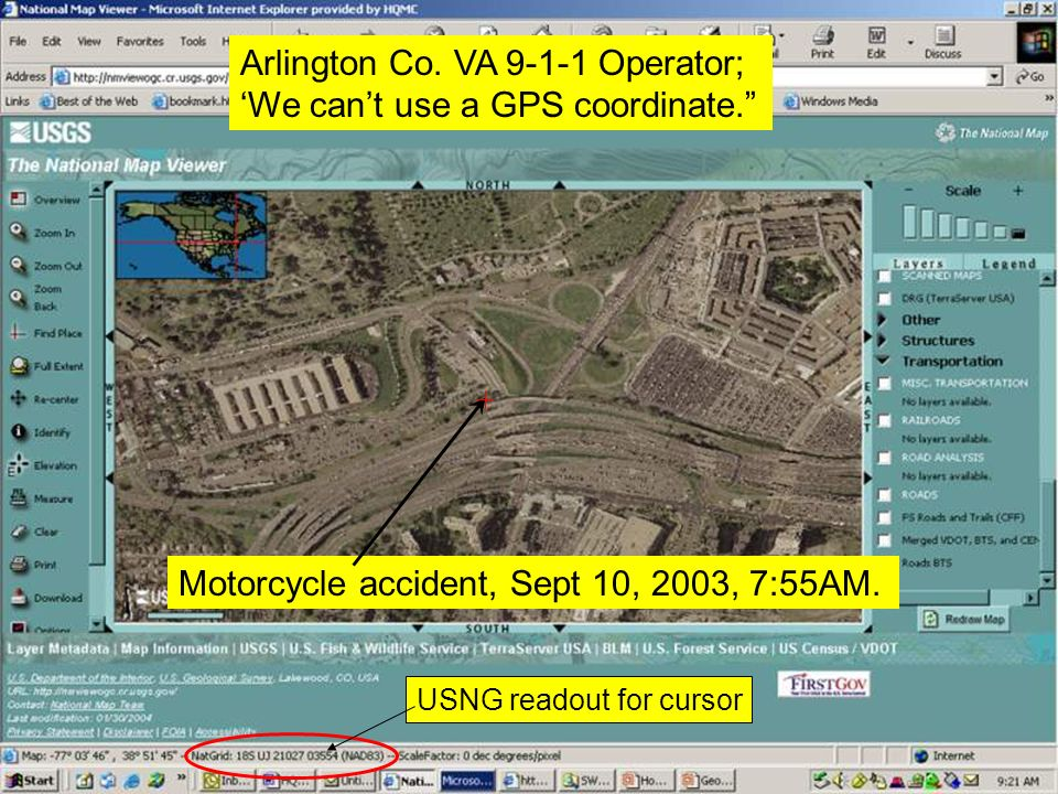 Motorcycle accident, Sept 10, 2003, 7:55AM.Arlington Co.