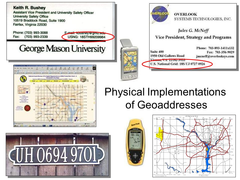 Physical Implementations of Geoaddresses