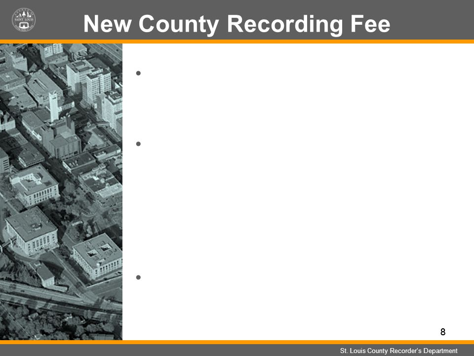 888 New County Recording Fee St.