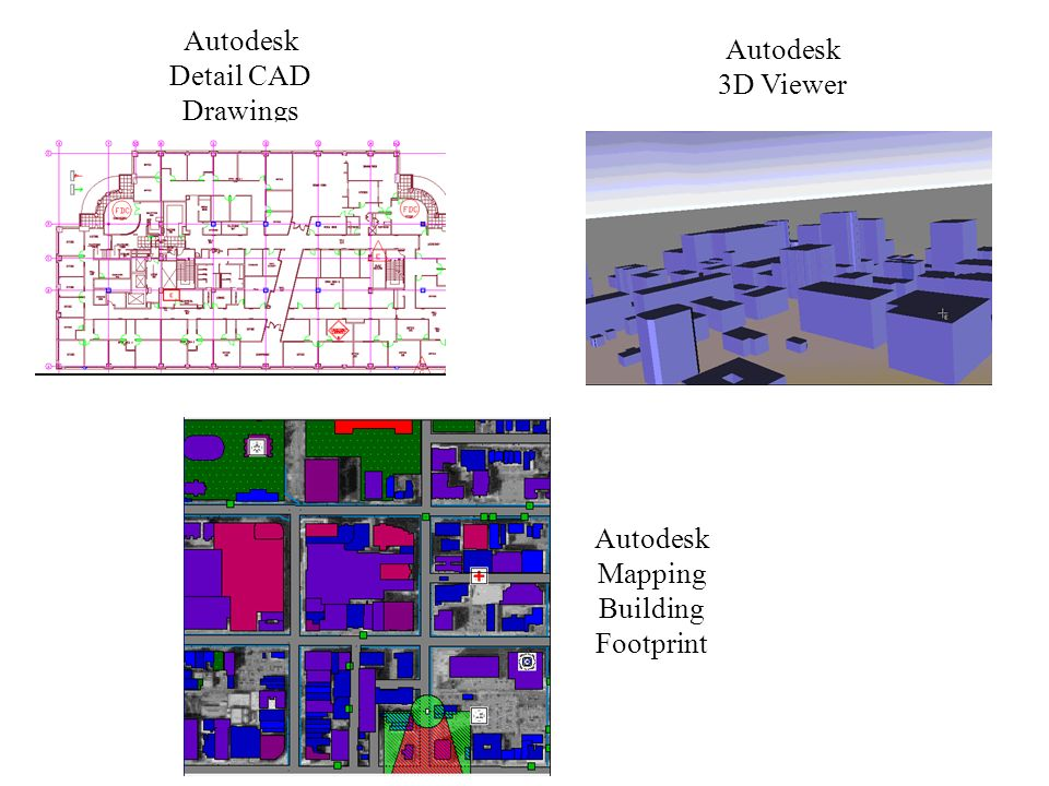 Autodesk Detail CAD Drawings Autodesk 3D Viewer Autodesk Mapping Building Footprint
