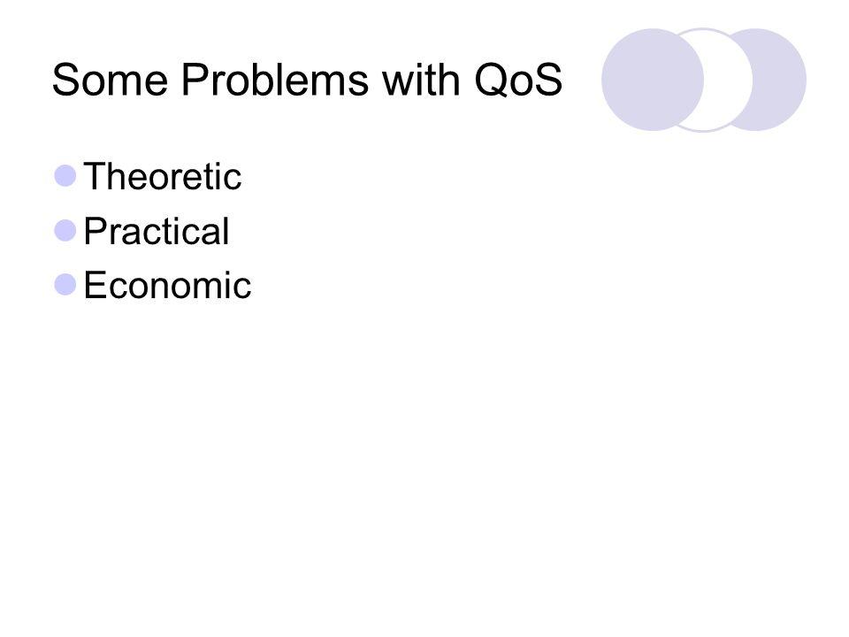 Some Problems with QoS Theoretic Practical Economic