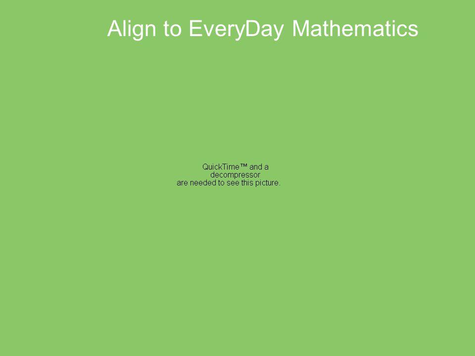 Align to EveryDay Mathematics