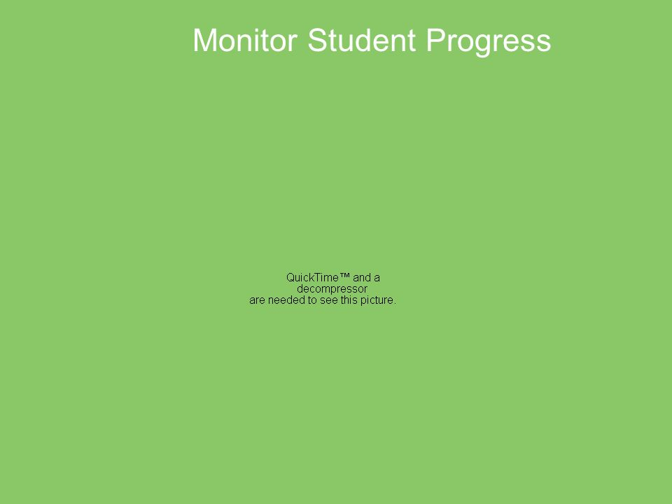 Monitor Student Progress