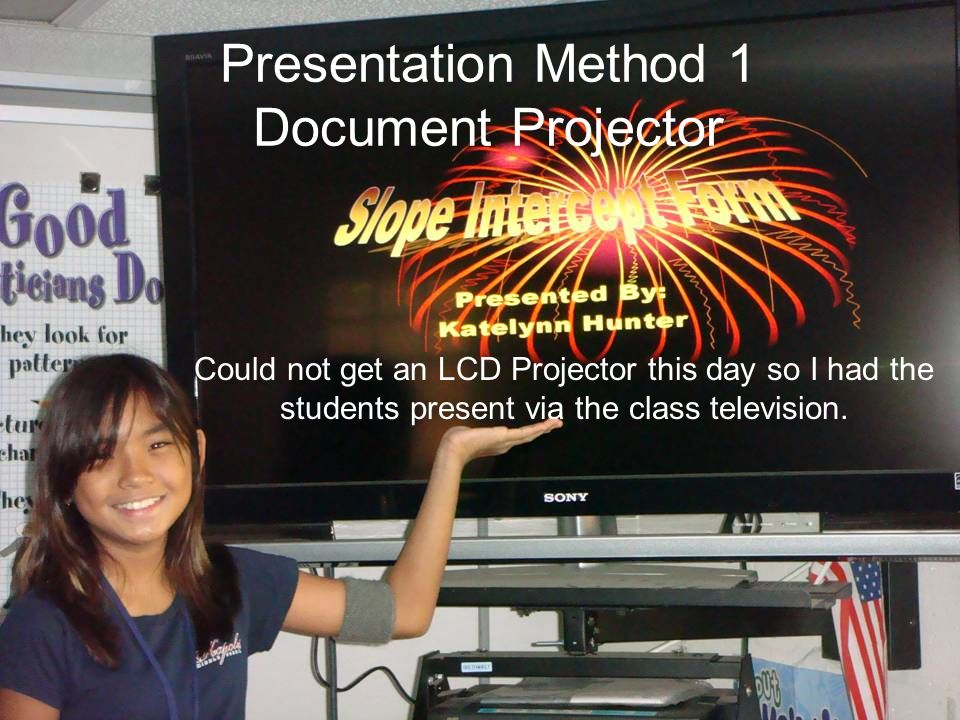 Presentation Method 2: Computer Lab using Vision Software Students will present to the class at the computer lab using the Vision software.