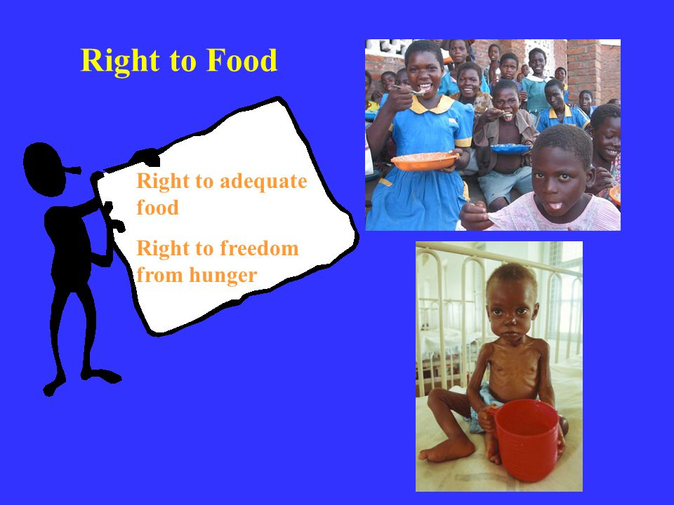 Right to adequate food Right to freedom from hunger Right to Food