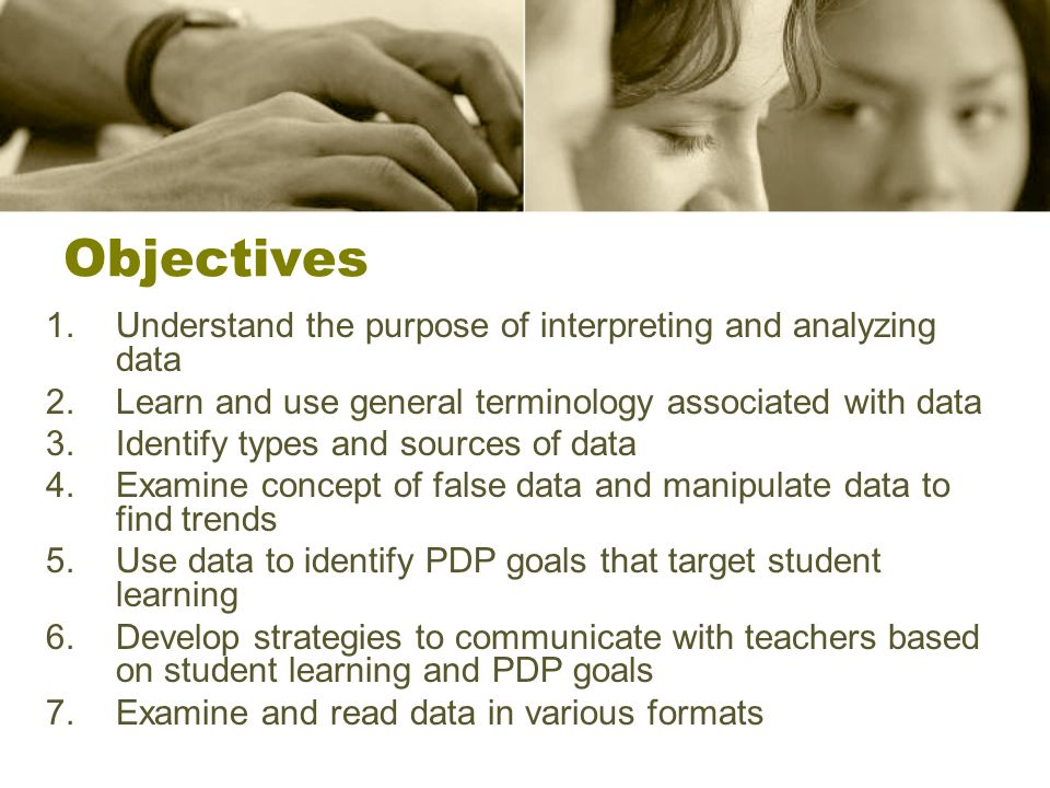 What is Data Analysis? Role play activity #1 What does data analysis mean to you?