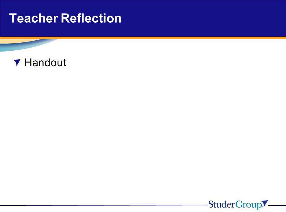 Teacher Reflection Handout