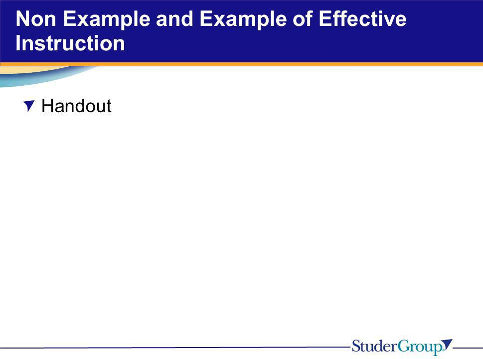 Non Example and Example of Effective Instruction Handout