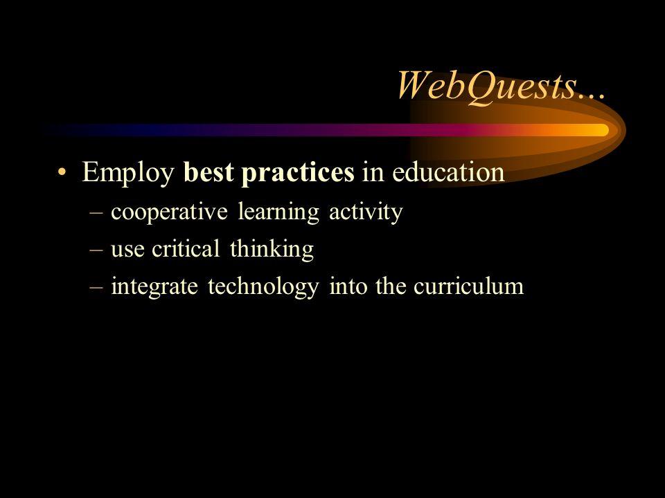 WebQuests...