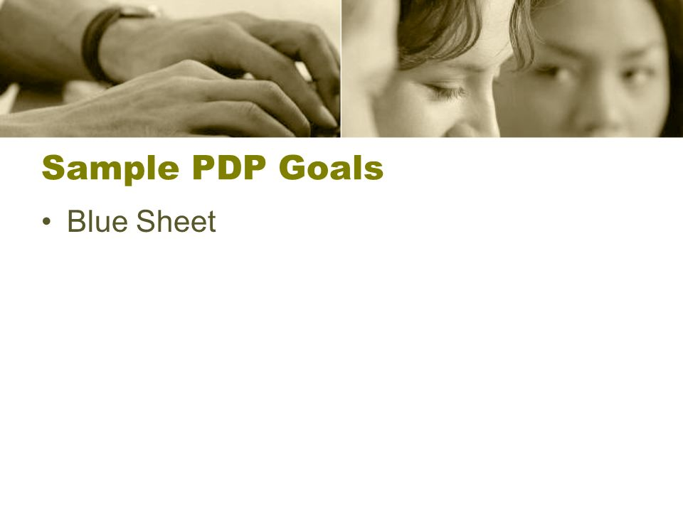 Sample PDP Goals Blue Sheet