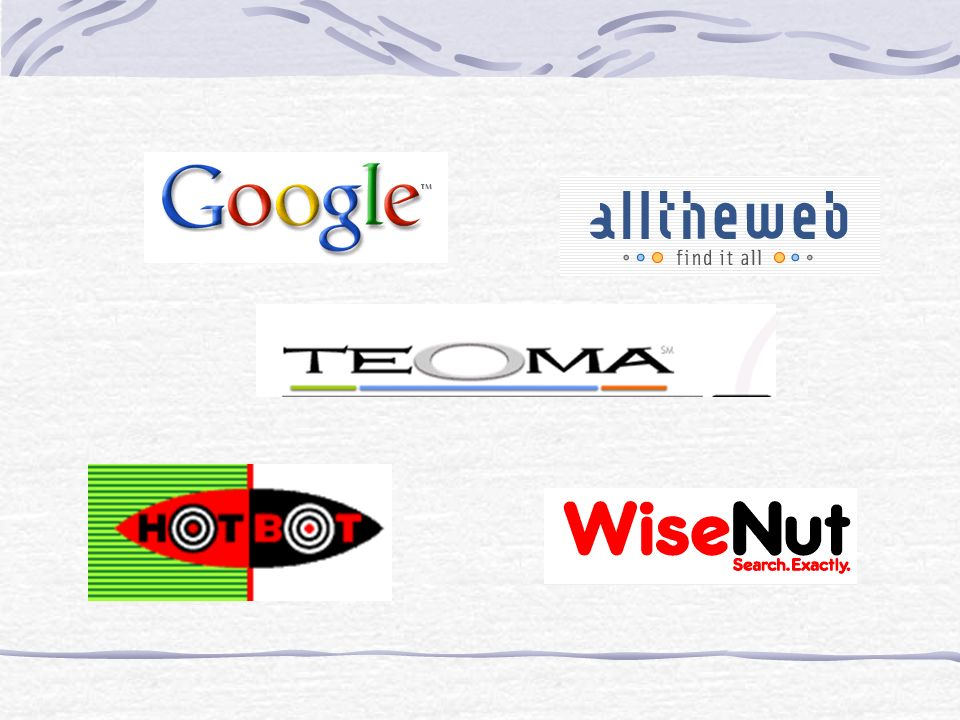 Choose the Best Search Engine for Your Purpose Noodle Tools: Debbie Abilock http://www.noodletools.com/debbie/literacies/informatio n/5locate/adviceengine.html