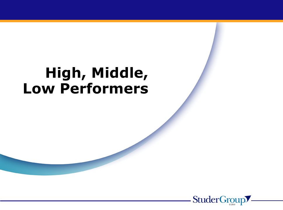 High, Middle, Low Performers