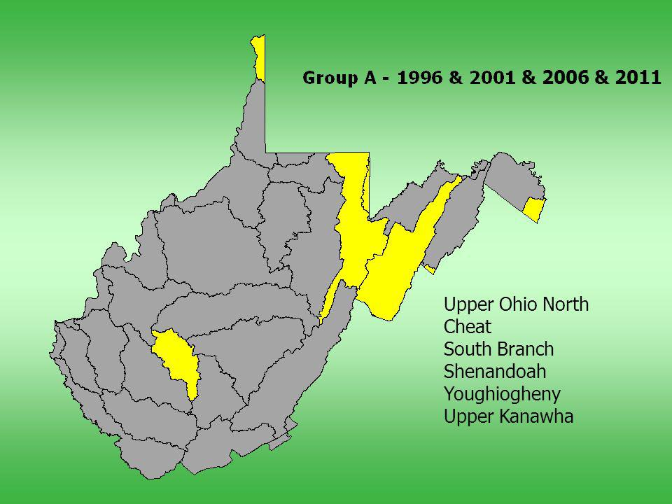 Upper Ohio North Cheat South Branch Shenandoah Youghiogheny Upper Kanawha & 2006 & 2011