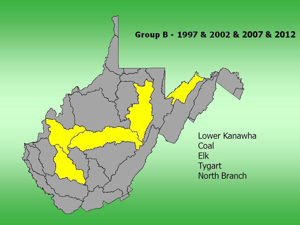 Lower Kanawha Coal Elk Tygart North Branch & 2007 & 2012