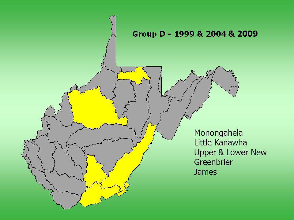 Monongahela Little Kanawha Upper & Lower New Greenbrier James & 2009