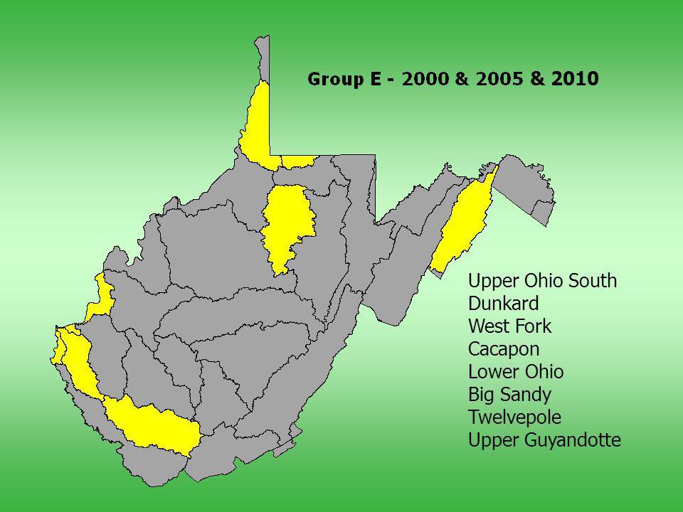 Upper Ohio South Dunkard West Fork Cacapon Lower Ohio Big Sandy Twelvepole Upper Guyandotte & 2010