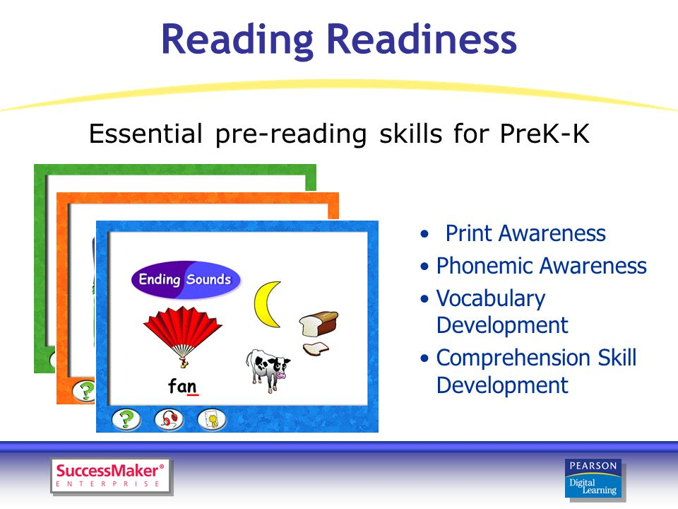 Initial Reading l Letter Identification l Phonemic Awareness/Phonics l Word Comprehension l Sentence Comprehension l Sight Words l Passage Comprehension Early Literacy instruction for K-2