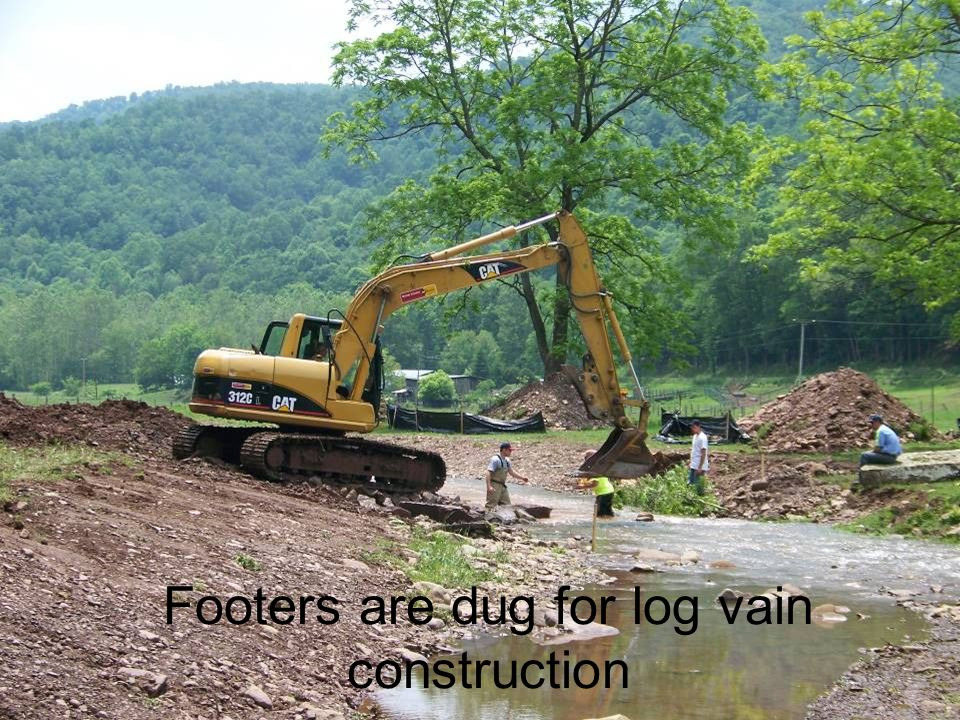 Footers are dug for log vain construction