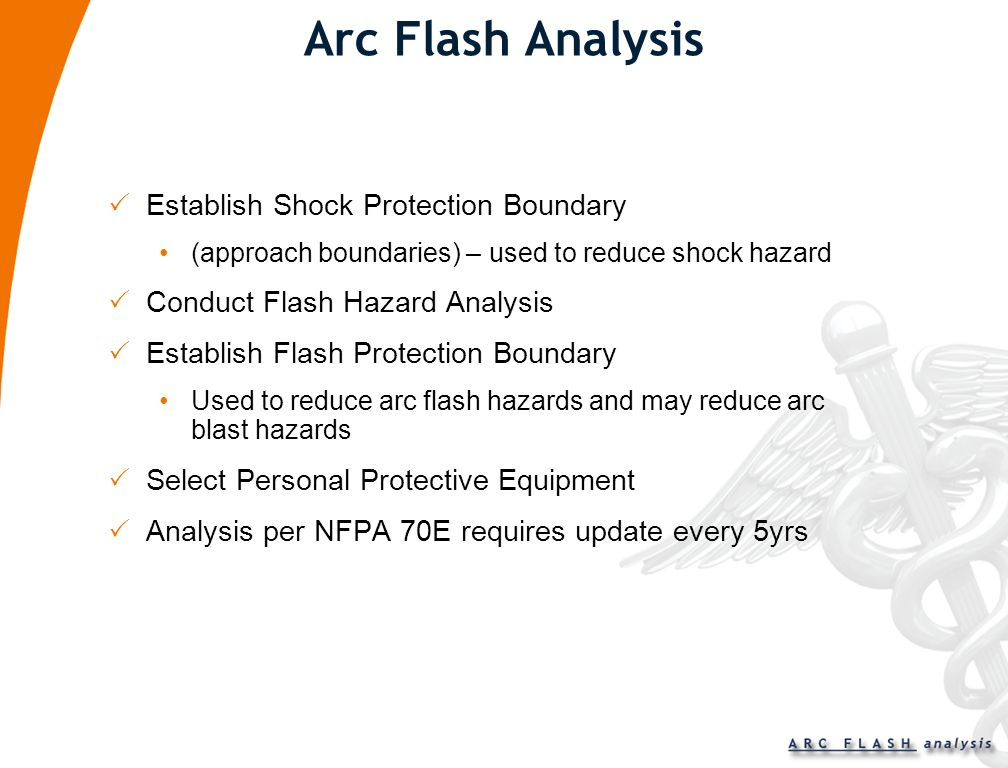 NFPA 70E Requirements for Working on or Near Live Parts Perform Arc Flash Analysis Select Personal Protective Equipment (PPE) Complete Energized Elect