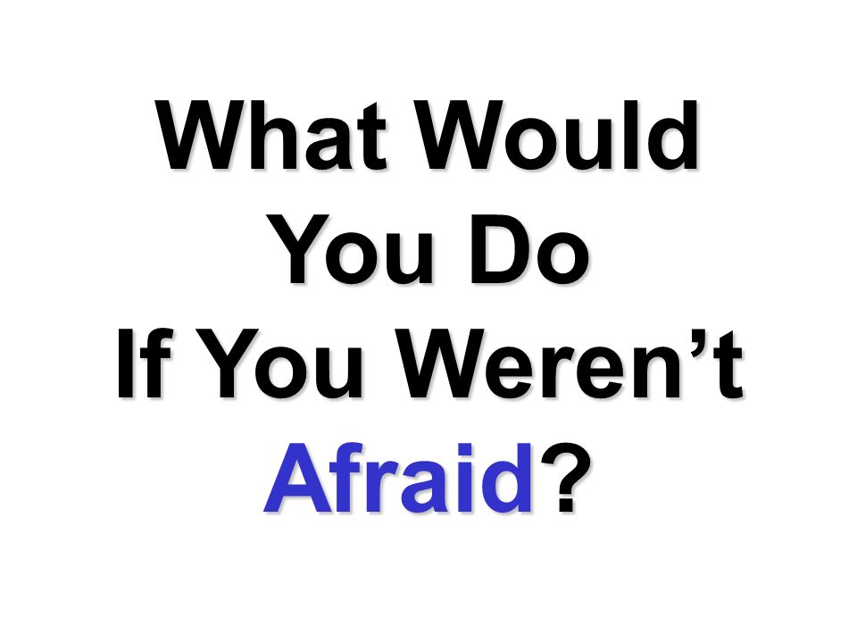 What Would You Do If You Werent Afraid?