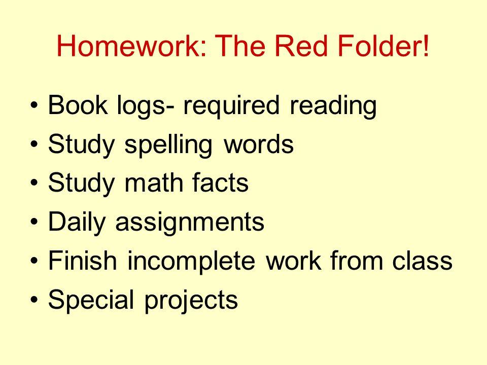 Homework: The Red Folder.