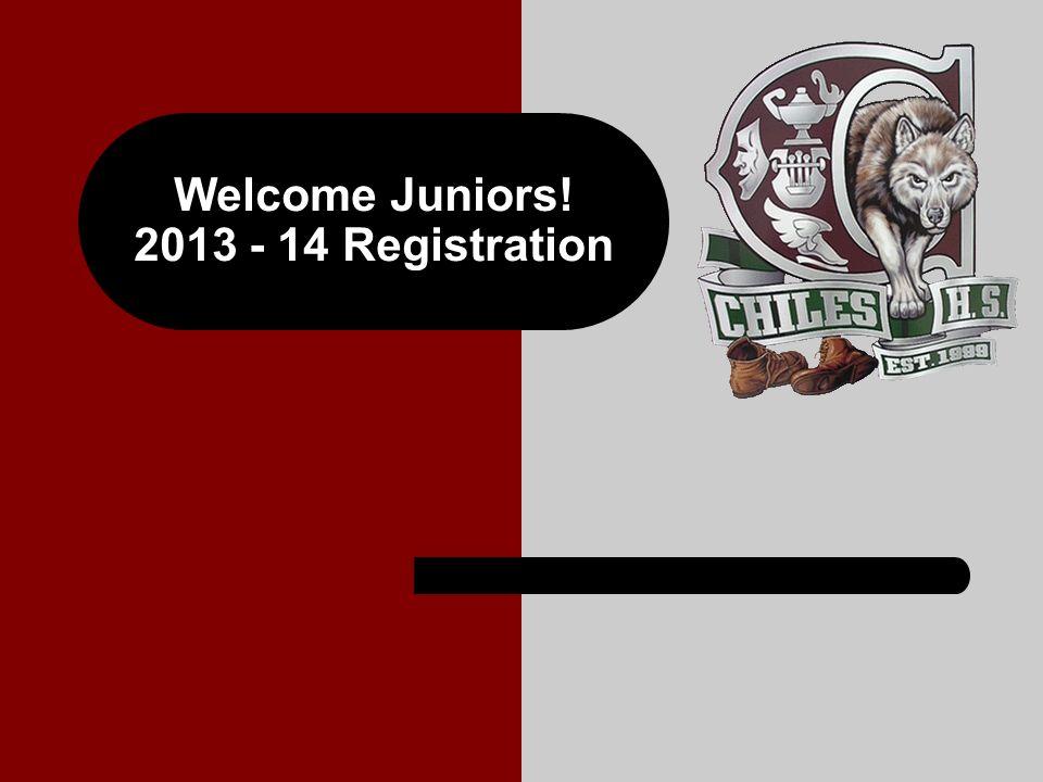 Welcome Juniors! 2013 - 14 Registration