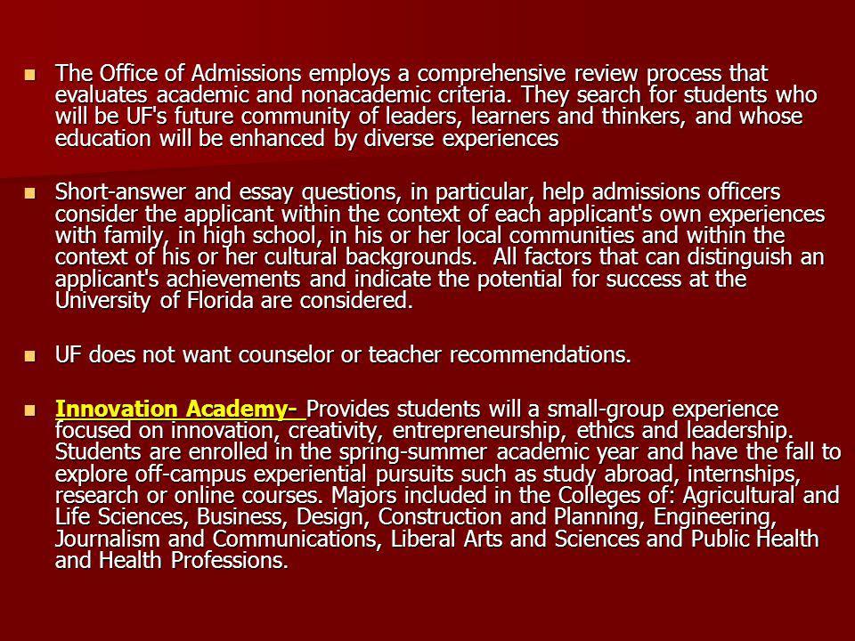 Uf admission essay baccalaureate