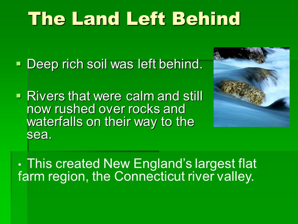 New Englands Resources The first colonist in New England thought of the forest as a rocky , sterile,unkempt, wilderness.