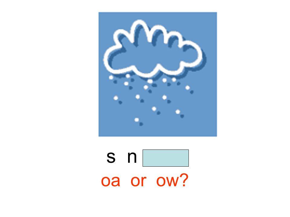s n o w oa or ow?