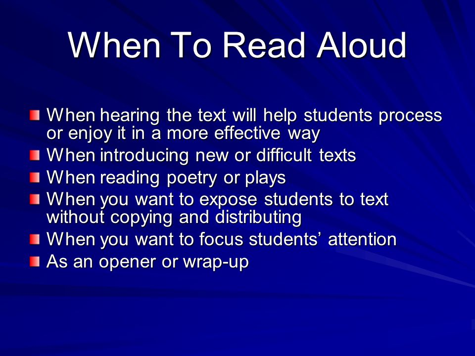 Why Read-Aloud.