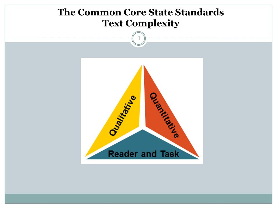 The Common Core State Standards Text Complexity 1