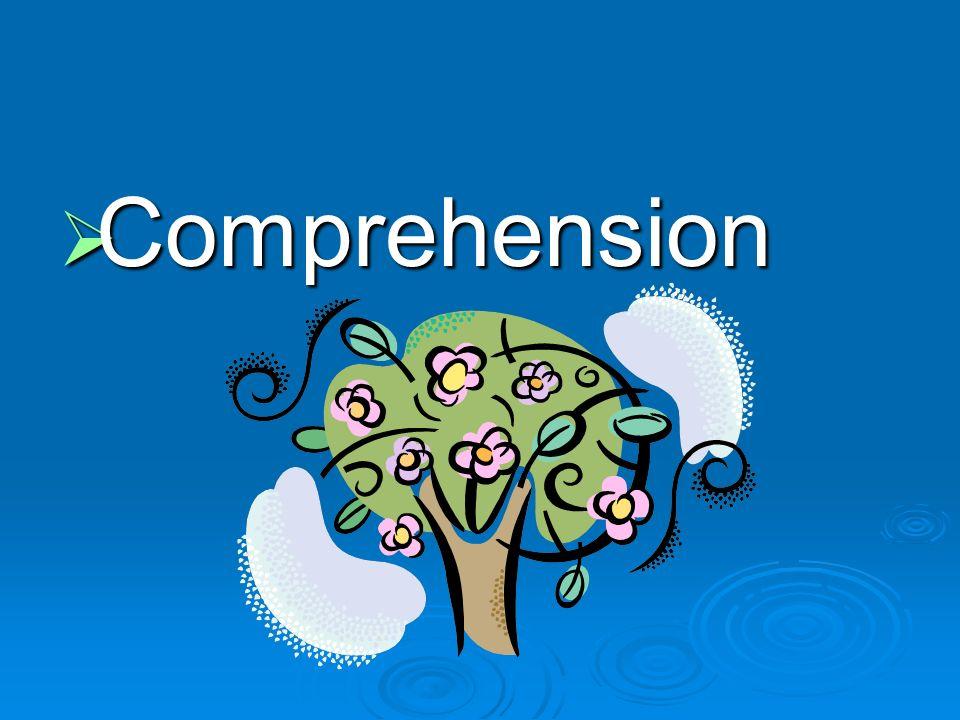 Comprehension Comprehension