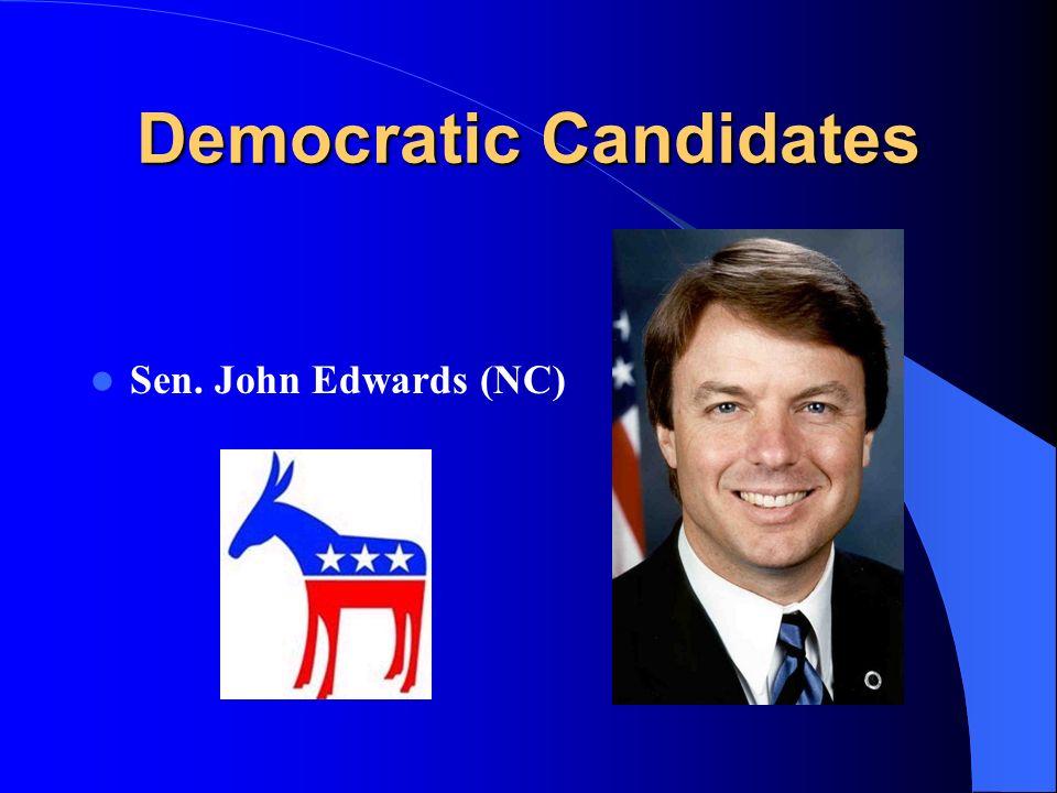 Democratic Candidates Sen. John Edwards (NC)