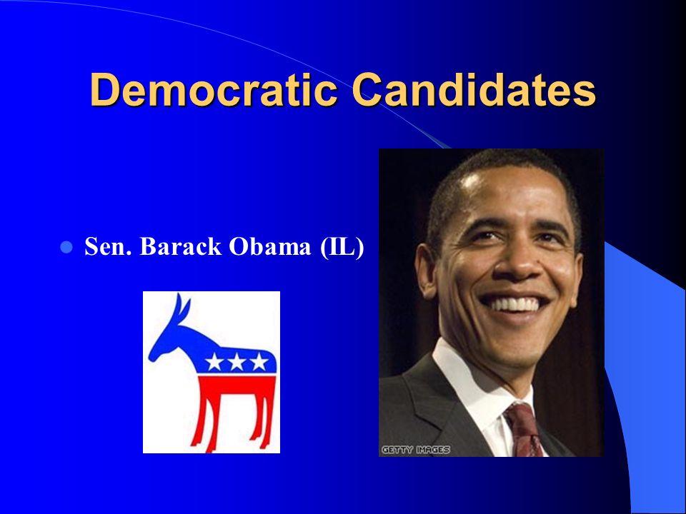Democratic Candidates Sen. Barack Obama (IL)